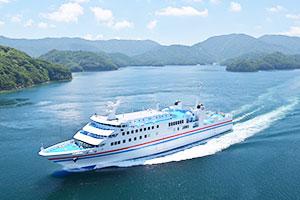 新上五島町へのルートは船のみになります